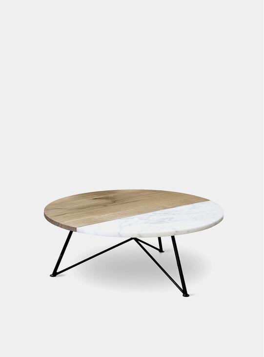 Oak / Marble Sofa table