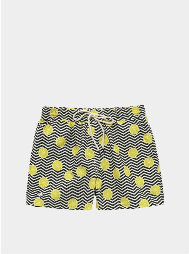 Black Lemon Swim Shorts