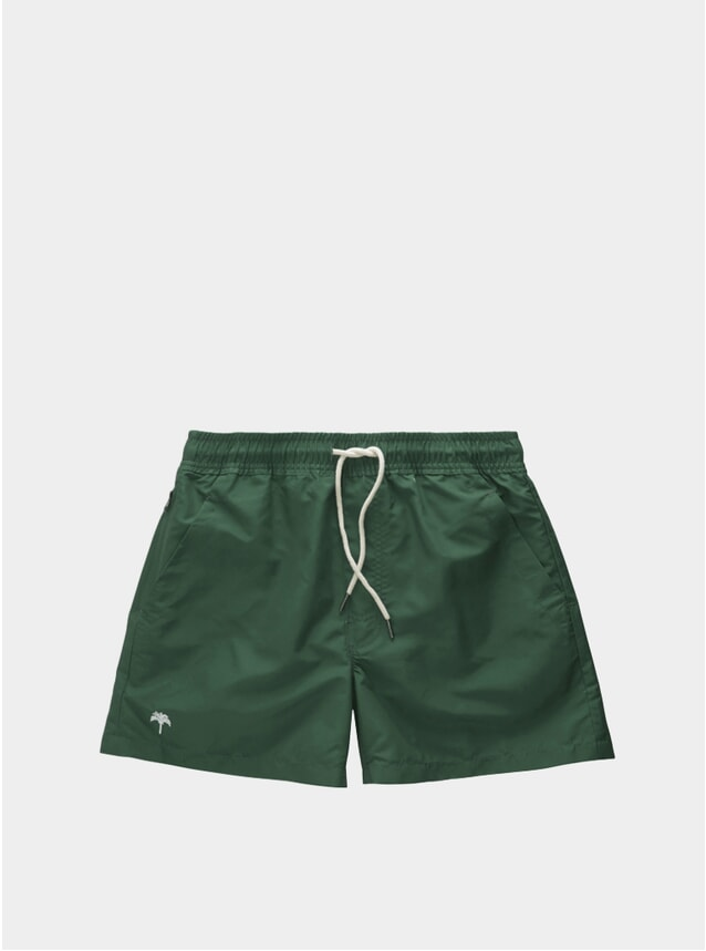 Dark Green Swim Shorts