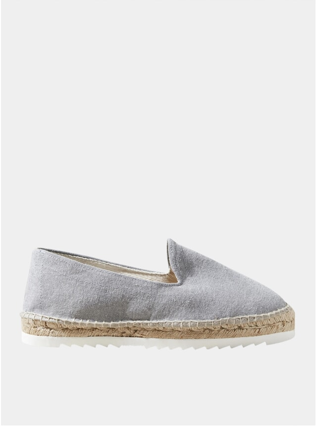 Grey Canvas Espadrilles