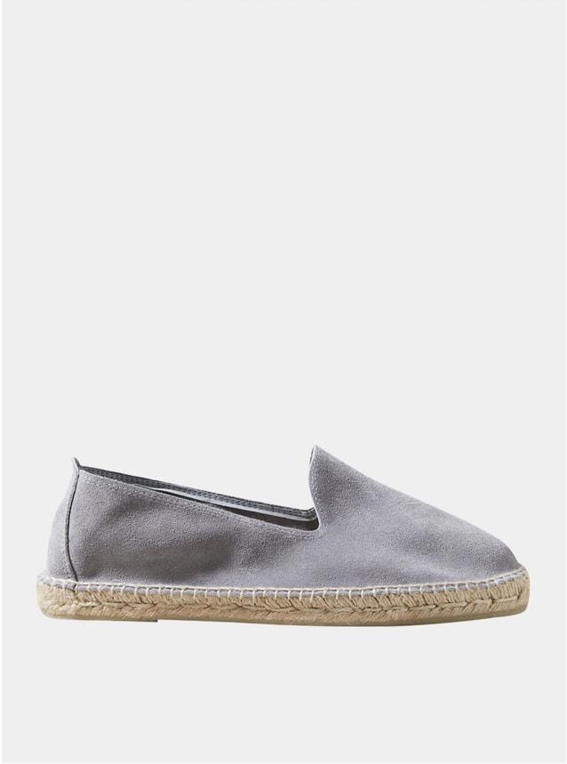 Grey Suede Espadrilles