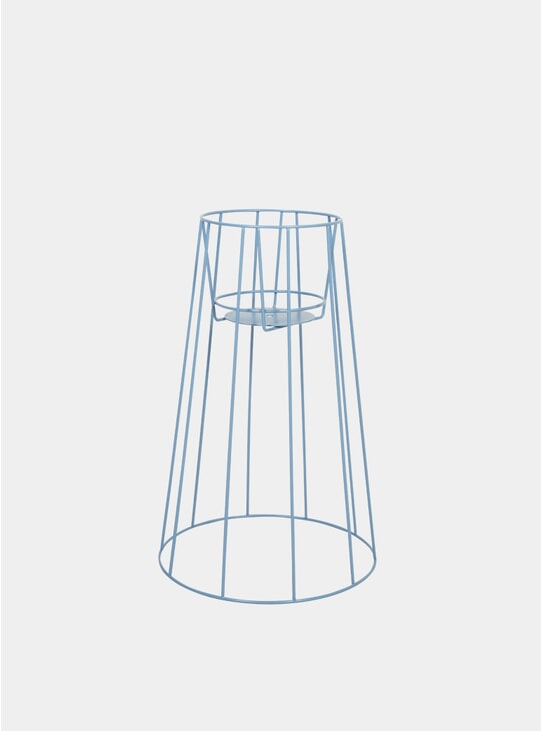 Large Pigeon Blue Cibele Plant Stand