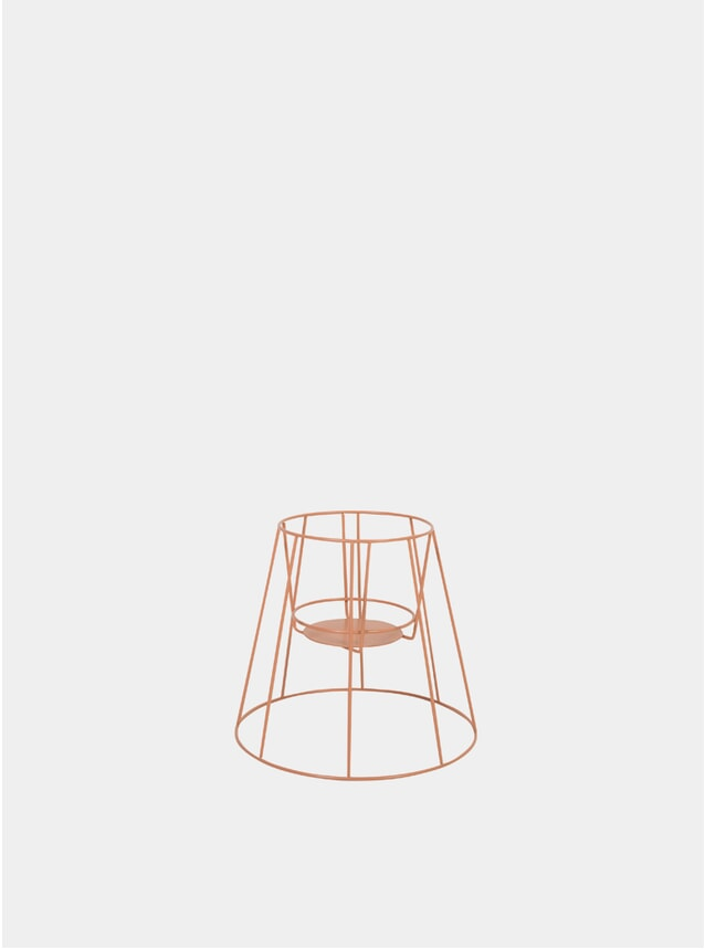 Small Dusty Peach Cibele Plant Stand