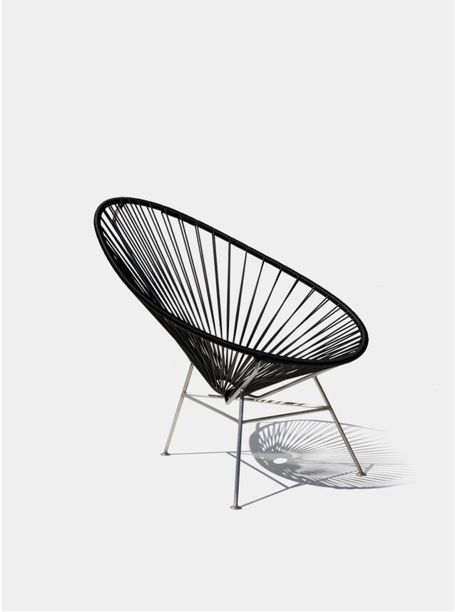 Stainless Steel / Black Cord  Acapulco Chair