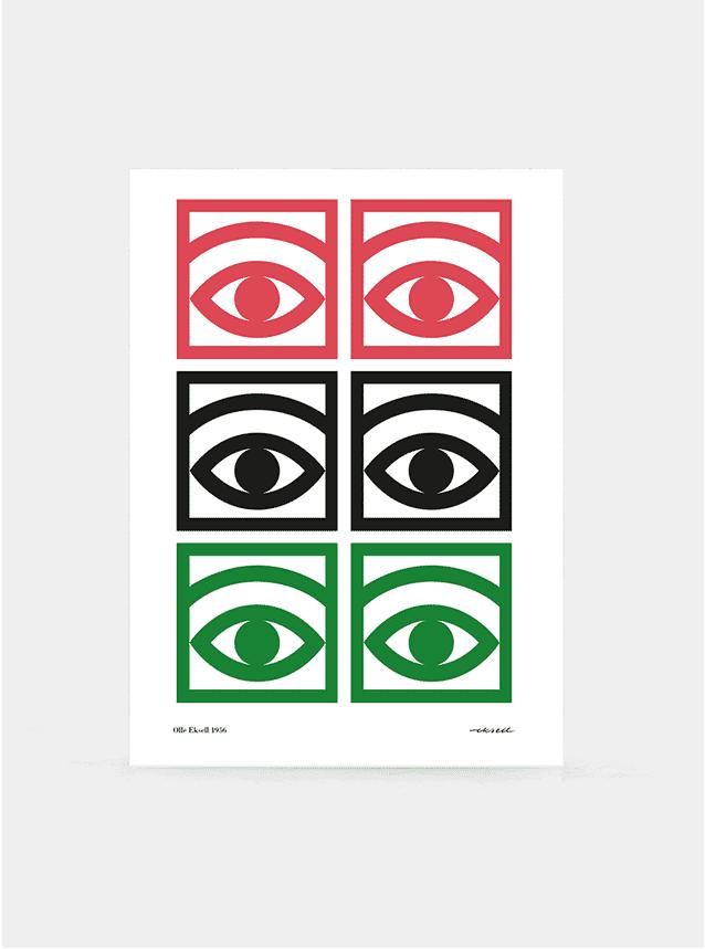 Several Eyes 1956 Print