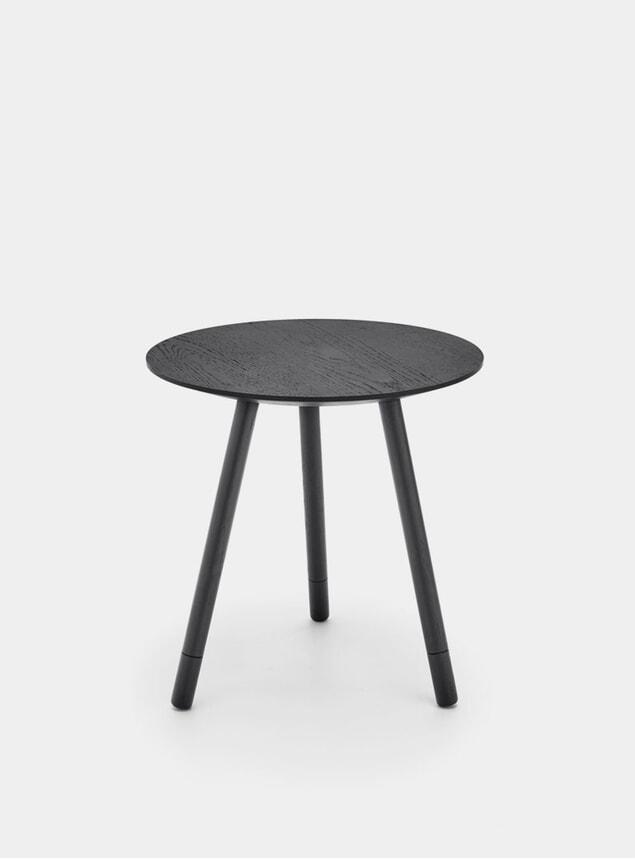 Black Oak Bison Side Table