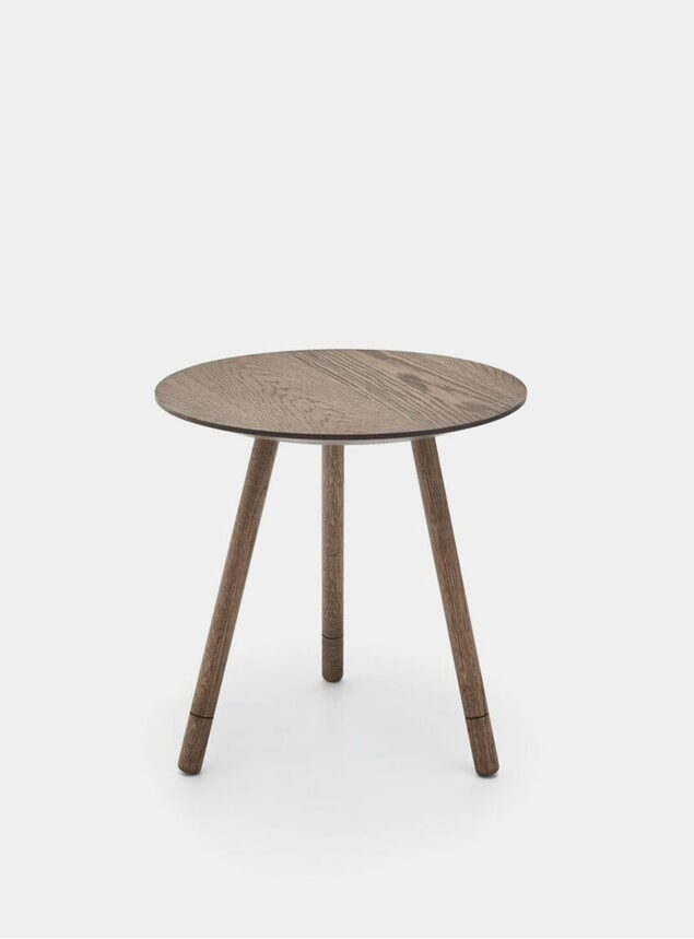 Smoked Oak Bison Side Table
