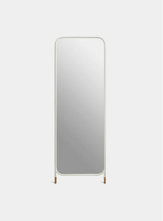 White / Cork Vertical Mirror