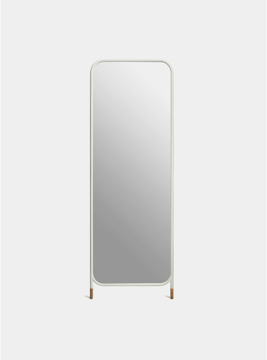 White / Cork Vertical Mirror
