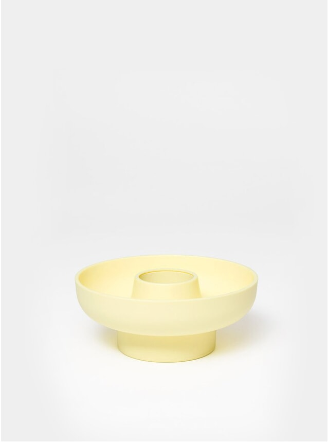 Pale Yellow Hoop Serving Bowl