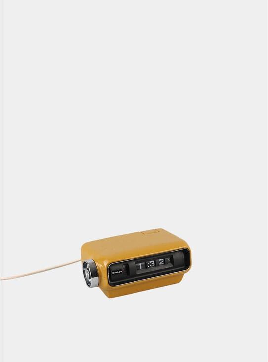 Mustard Sankyo Digital 1970s Clock