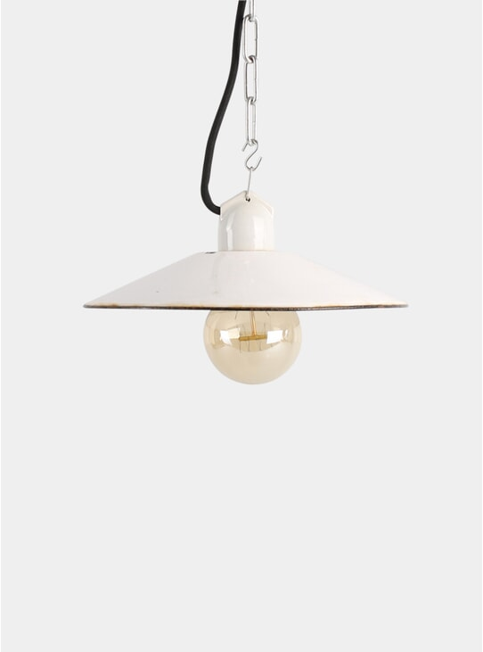 Small Enamel Pendant Light