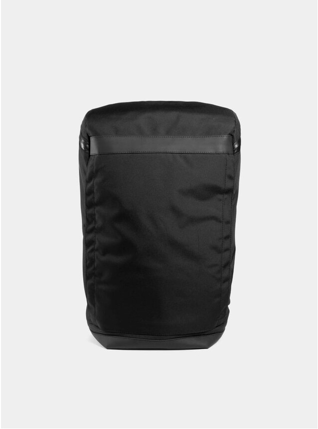 Black Invisible Three Backpack