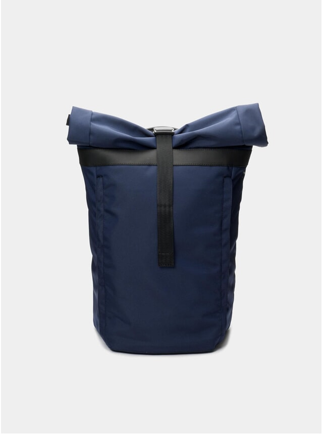 Navy Blue Invisible Rolltop Backpack