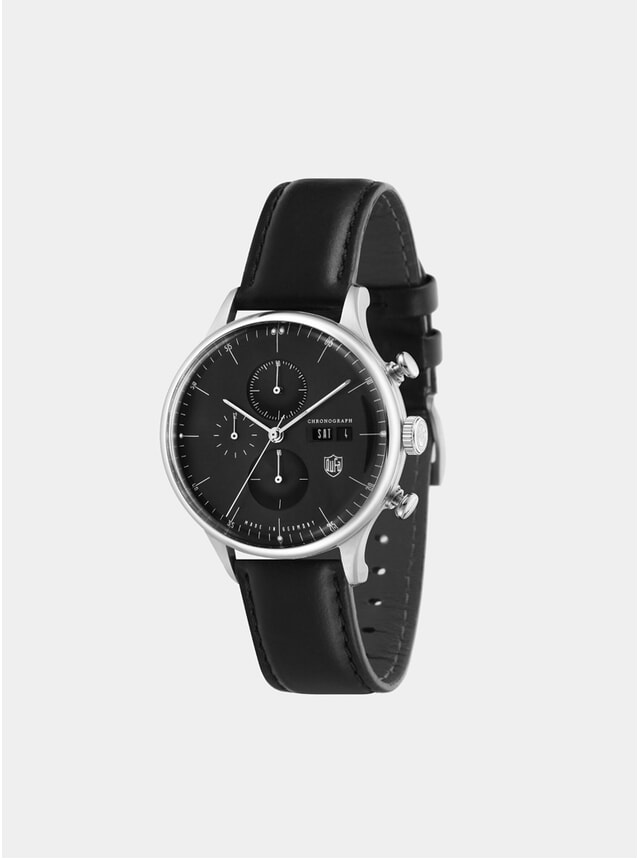 Stainless Steel / All Black Chronograph Watch