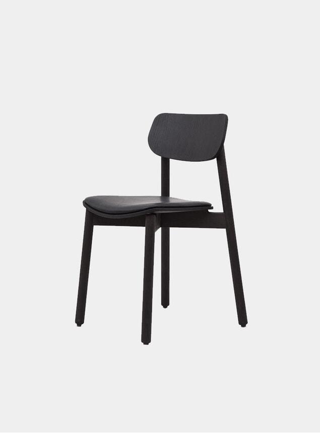 Black / Black Leather Upholstered Otis Dining Chair