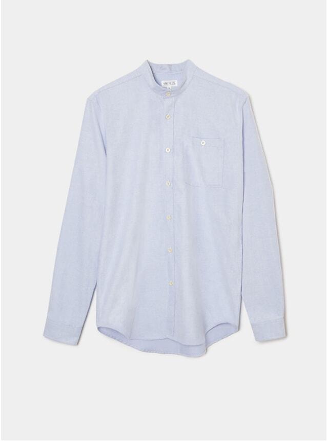 Pale Blue Oxford Grandad Shirt