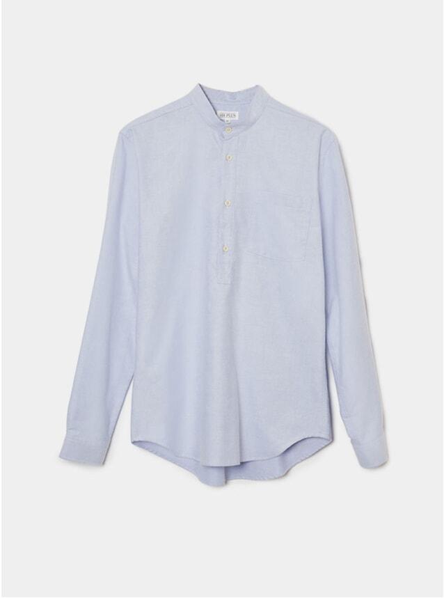 Pale Blue Oxford Overhead Grandad Shirt