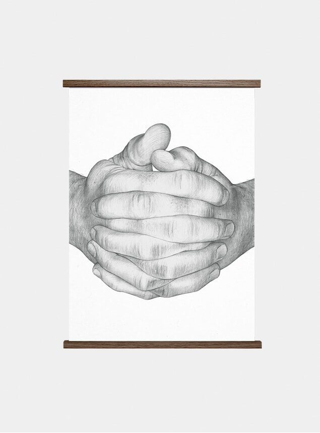 Folded Hands Print by Børge Bredenbekk