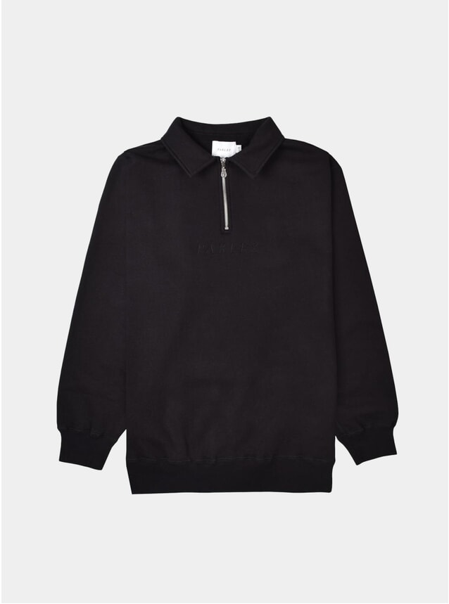 Black Tonal 1/4 Zip Jumper