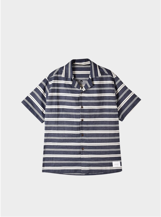 Navy Pedro Short Sleeve Shirt