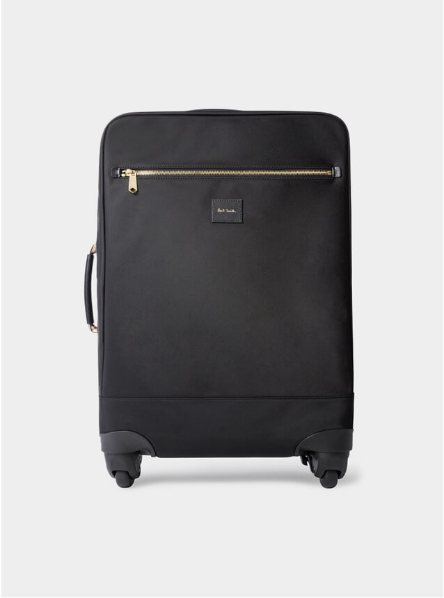 Black Canvas Four-Wheel Suitcase