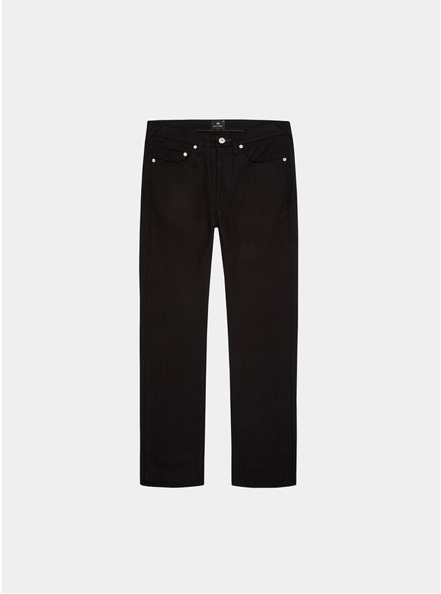 Black Stretch Denim Slim Fit 12oz Denim Jeans