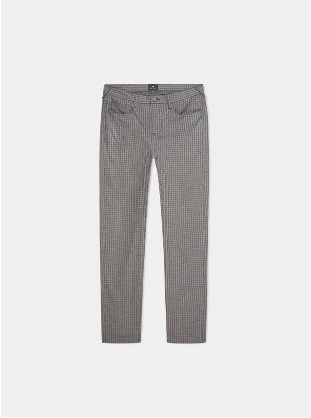 Black / White Check Five Pocket Trousers