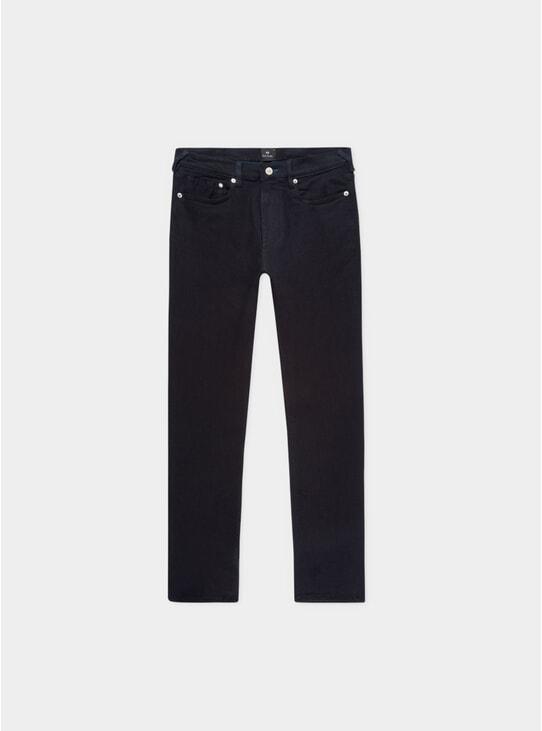 Dark Navy Blue / Black Reflex Slim Jeans