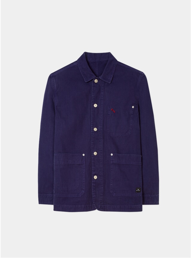 Navy Cotton-Canvas Work Jacket