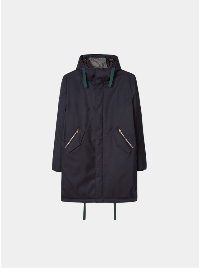 Navy Twill Down-Filled Parka