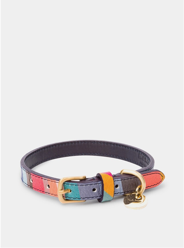 Swirl Print Calf Leather Dog Collar