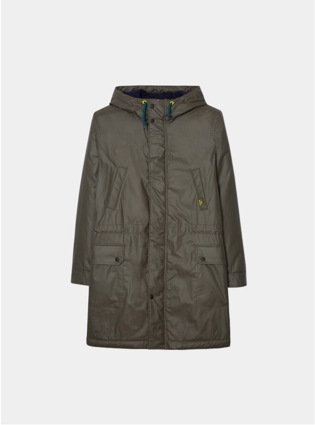 Washed Khaki Wadded Parka