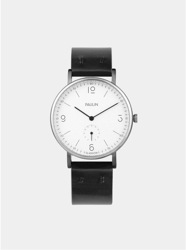 Black / White Commuter Numerical A Watch