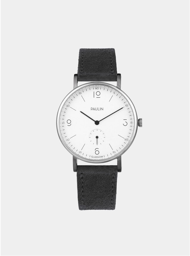 Charcol Suede Commuter Numerical A Watch