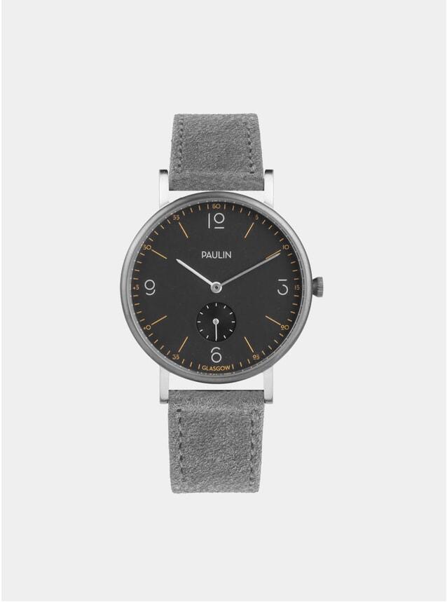 Grey Suede Commuter Numerical B Watch