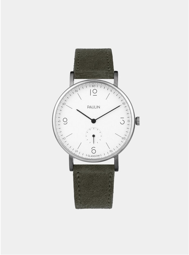 Olive Suede Commuter Numerical A Watch