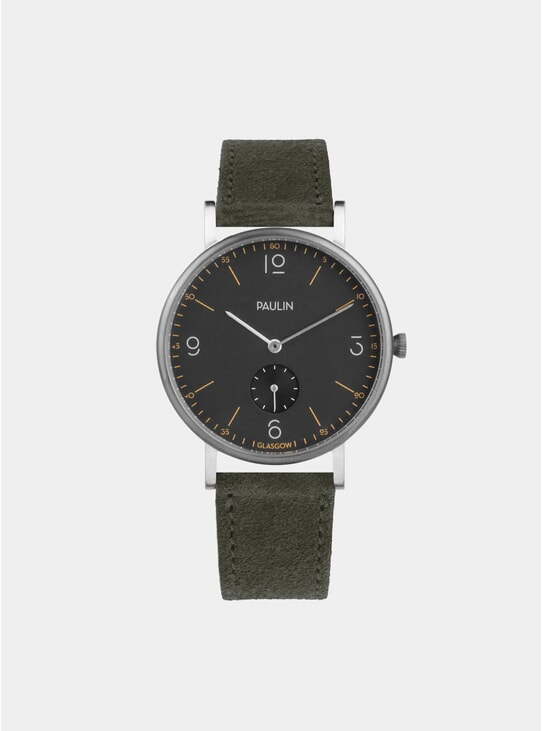 Olive Suede Commuter Numerical B Watch