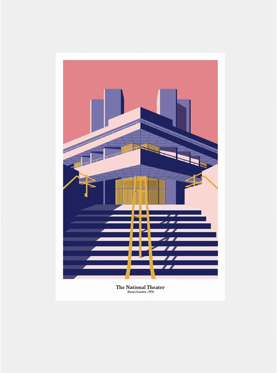 The National Theater Print
