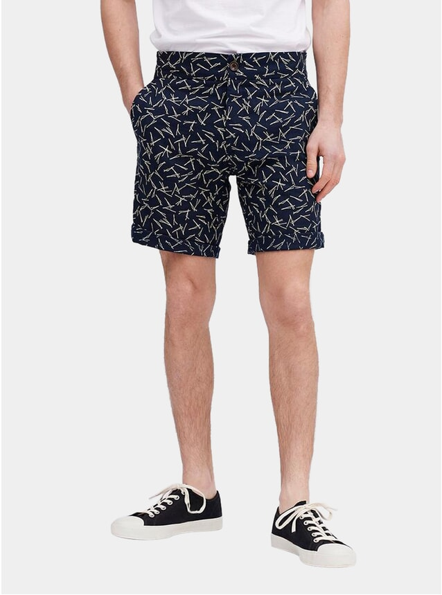 Navy Niwaki Pine Needle Shorts