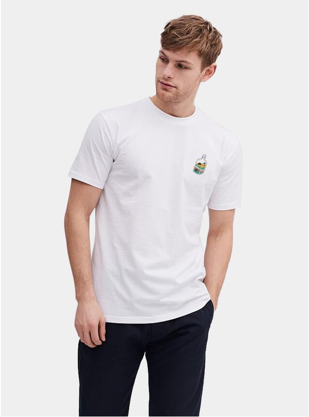 Sand Bottle Embroidery T Shirt
