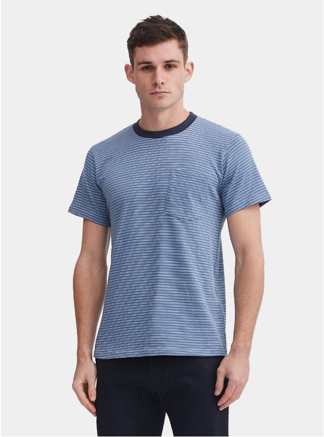 Slate Blue Custom Stripe T Shirt