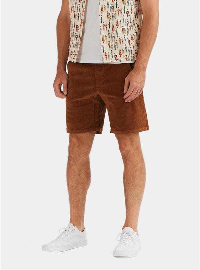 Tan Brushed Cotton Shorts