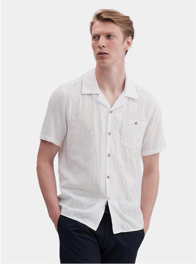 White Waffle Check SS Cuban Shirt