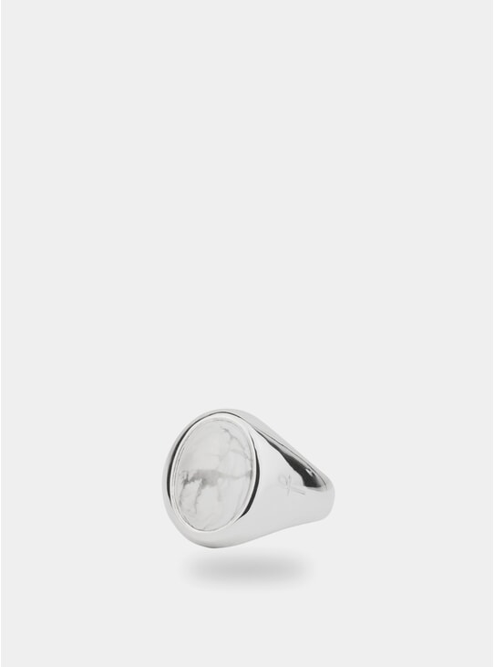 Silver / White Howlite Jamestown Ring