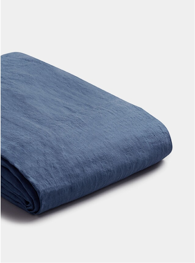 Blueberry Linen Double Duvet Cover