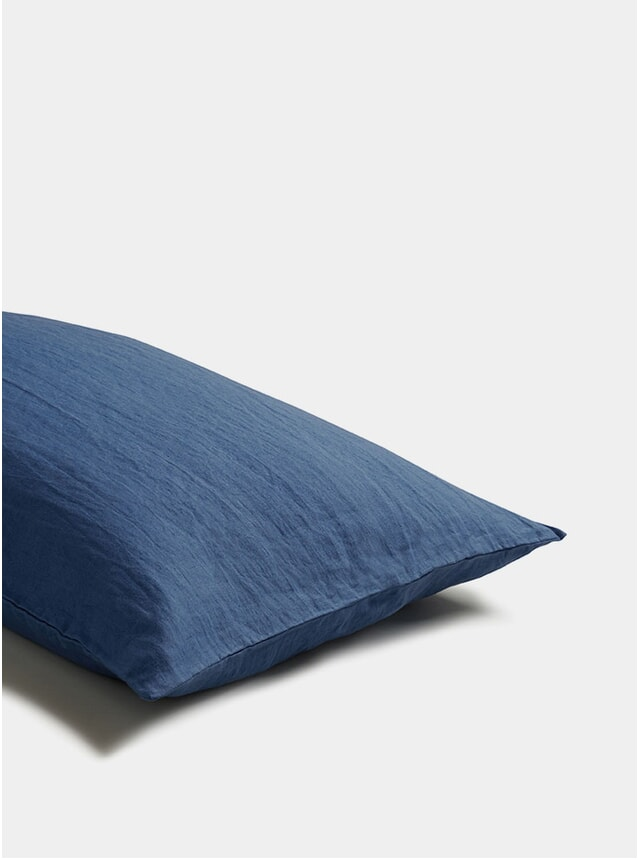 Blueberry Linen Pillowcase Set of 2