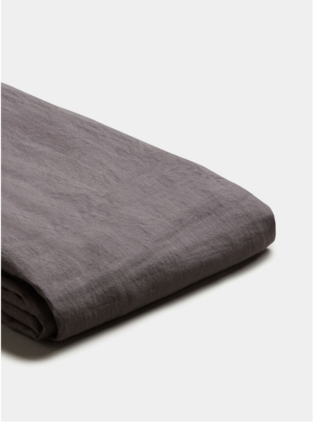 Charcoal Grey Linen Double Duvet Cover