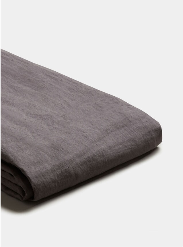 Charcoal Grey Linen King Size Duvet Cover