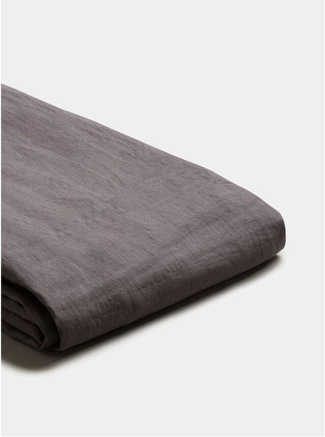Charcoal Grey Linen Super King Size Duvet Cover